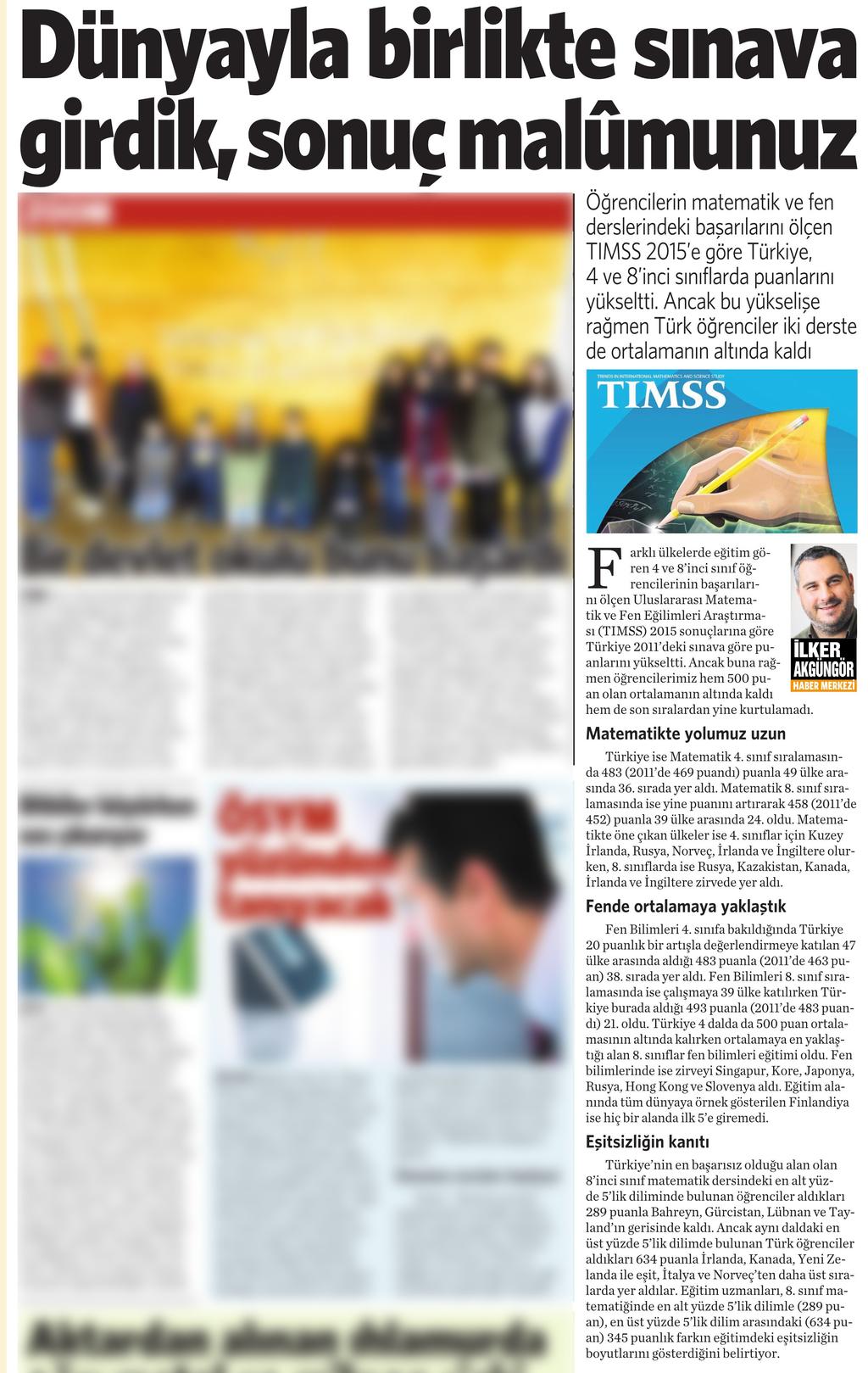1 Aralık 2016 Vatan Gazetesi 4. sayfa