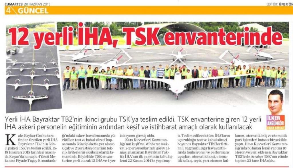 20 Haziran 2015 Vatan Gazetesi 4. sayfa