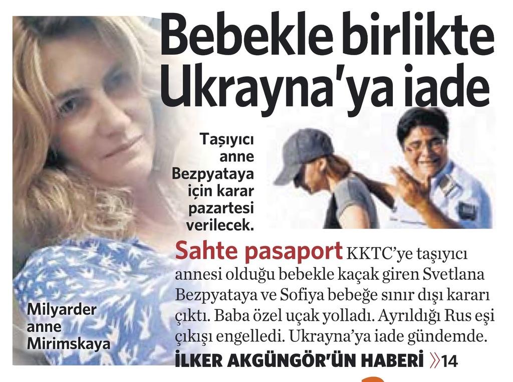 29 Ekim 2016 Vatan Gazetesi 1. sayfa
