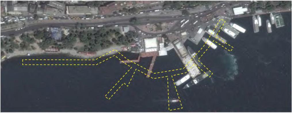 Proje alanının uydudan görüntüsü bu şekilde