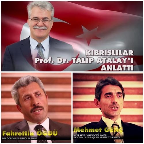 Talip Atalay'ı anlatan videolarda bir çok din adamı yer aldı.