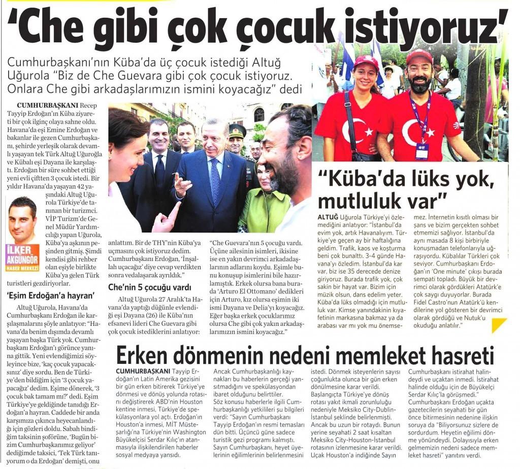 14 Şubat 2015 Vatan Gazetesi 15. sayfa