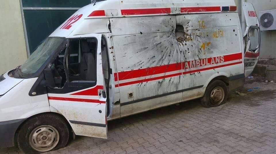 Bulunan ambulans kullanılamaz hale geldi