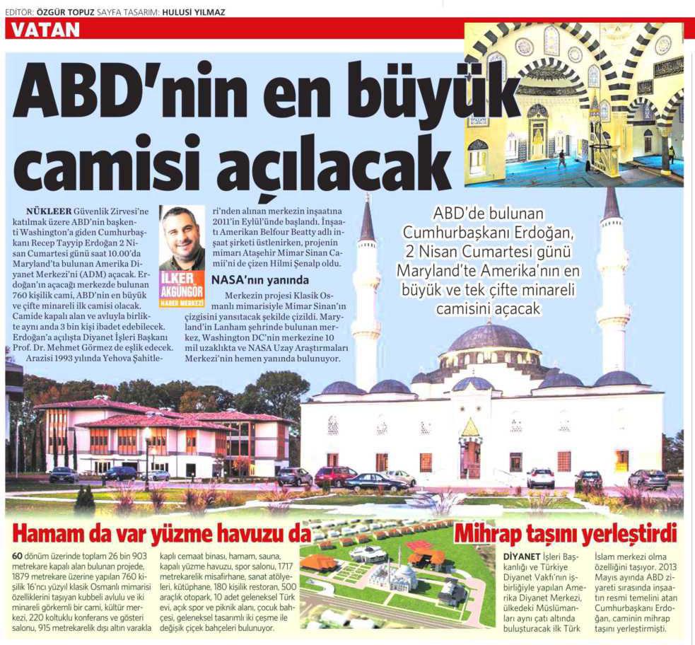 31 Mart 2016 Vatan Gazetesi 15. sayfa
