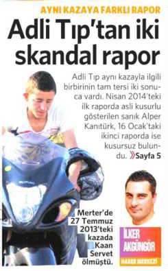 2 Mart 2015 Vatan Gazetesi 1. sayfa