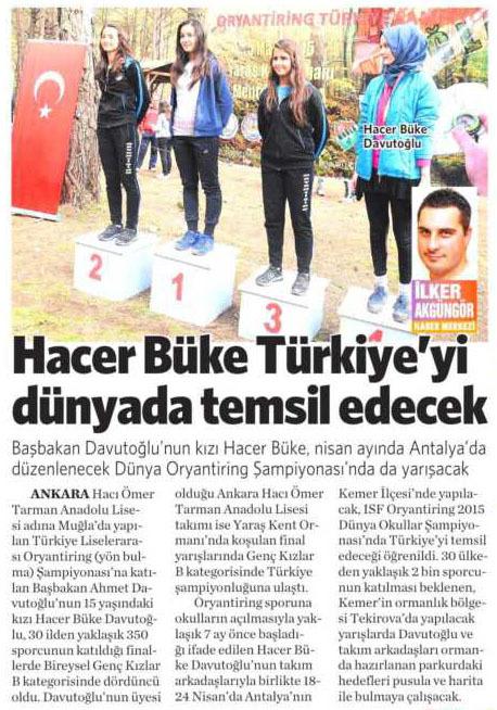 7 Mart 2015 Vatan Gazetesi  15. sayfa