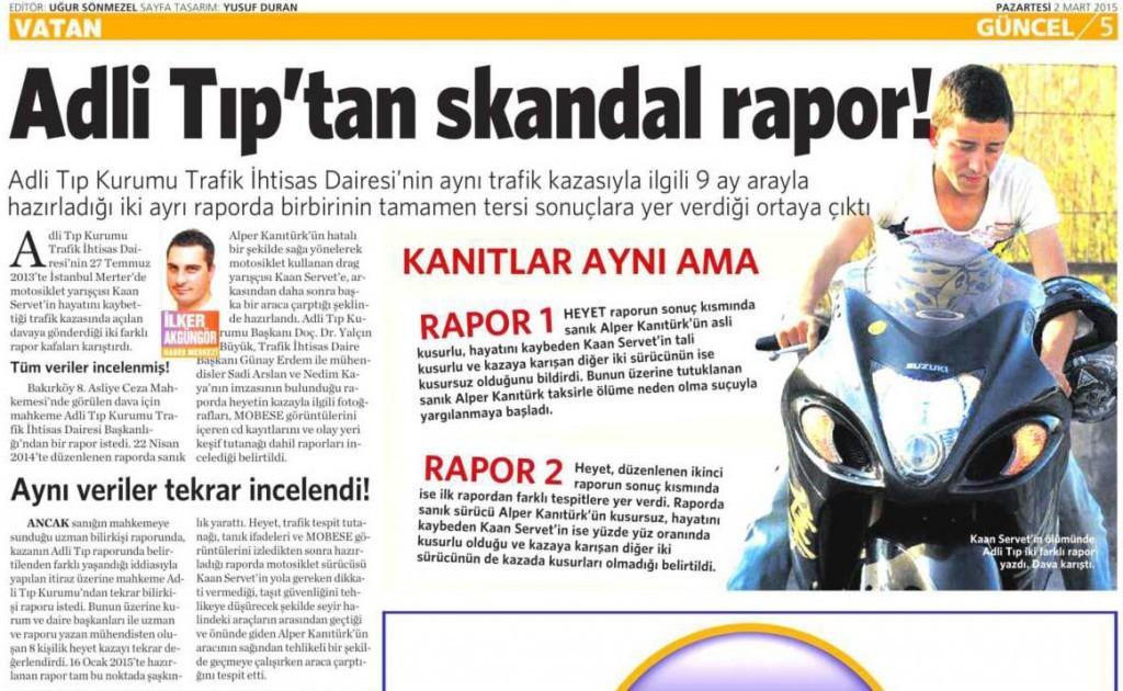 2 Mart 2015 Vatan Gazetesi 5. sayfa