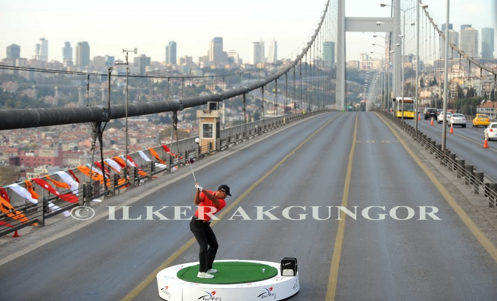 Tiger Woods İstanbul'da