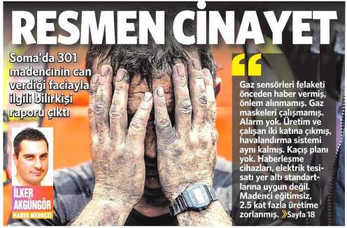 20 Eylül 2014 - Vatan Gazetesi 1. sayfa
